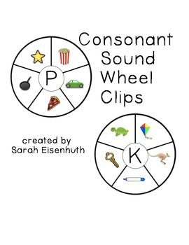 Consonant Sound Wheel Clips