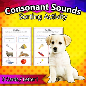 Consonant Sounds Sorting Activity
