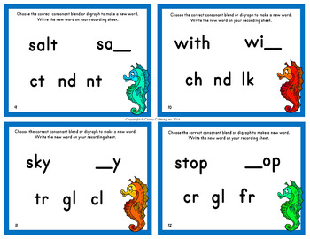 Consonant Substitution Task Cards, Set 2