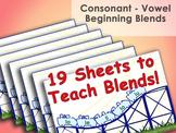 Consonant - Vowel Beginning Blends - Roller Coaster Instru