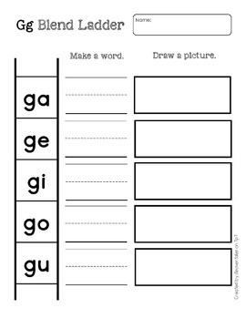 Consonant Vowel Blend Ladders