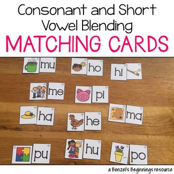 Consonant-Vowel Blend Matching Cards