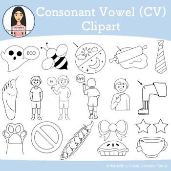 Consonant Vowel (CV) - Apraxia Clipart