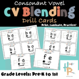 Consonant Vowel CV Blending Drill Cards