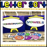 Consonant & Vowel Center Sort: Hands on Phonics Activity