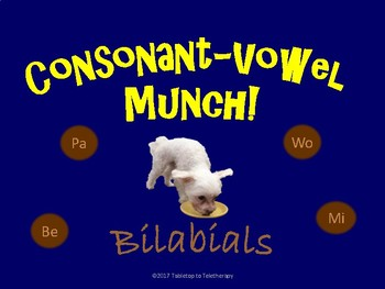Consonant-Vowel Munch! (Bilabials)
