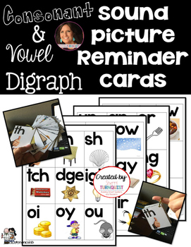 Consonant & Vowel Sound Picture Reminder Cards