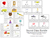 Consonant, Vowel, and Blend Clip Card Bundle