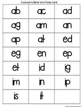 Consonant and Consonant Blend Sliders
