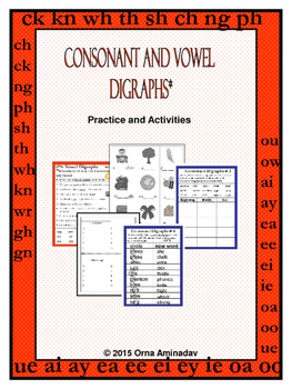 Consonant and Vowel Digraphs-Practice Activities
