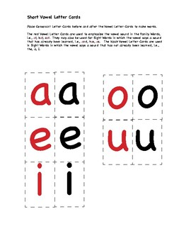 Consonant and Vowel Letter Cards