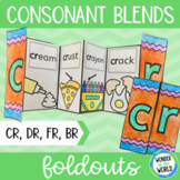 Consonant blends foldable activity - cr, dr, br and fr beg