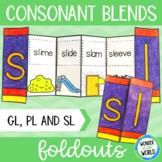 Consonant blends foldable activity - pl, sl and gl beginni