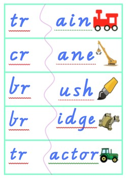 Consonant blends word matching