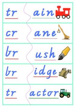 Consonant blends word matching