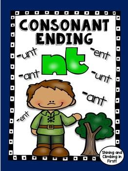 Consonant ending -nt - Word Work! No Prep!