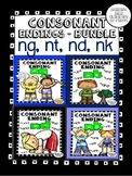 Consonant endings ng, nt, nk, nd - Bundle - Word Work! No Prep!