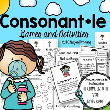 Consonant le  Syllable Activities and Games