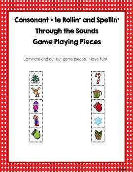 Consonant  le Dice Game, Decoding, Spelling, Literacy, Phonics, Freebie