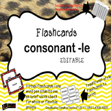 Consonant -le Flashcards with Progress Mon. Chart, compatible for use with SPIRE