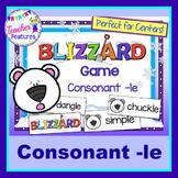 Consonant -le Game: Polar Bears & Blizzard Theme