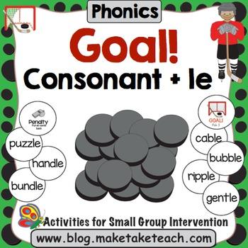 Consonant + le - Goal! A Hockey Themed Activity