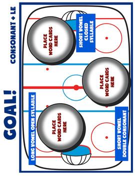 Consonant+le Goal! Hockey Themed Activity