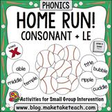 Consonant + le - Home Run!
