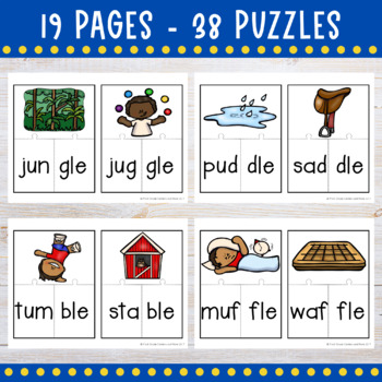 Consonant le Puzzles Final Stable Syllables
