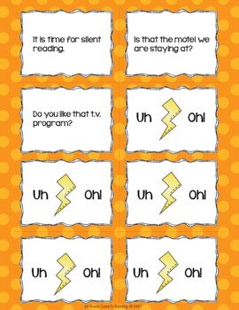 v/cv as in Open Reading Fluency Game Uh-Oh!