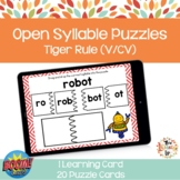 Open Syllable Puzzle Boom Cards