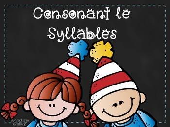 Consonant le Syllables
