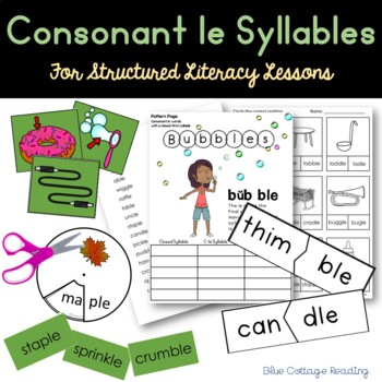 Consonant le Syllables (Level 6 Teaching Packet)
