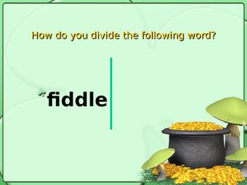 Consonant le Syllables Powerpoint