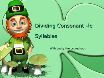 Consonant le Syllables Powerpoint