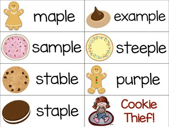 Consonant le Words: Cookie Thief Game