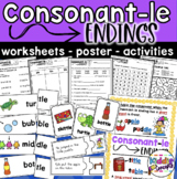 Consonant - le Endings Worksheets, Poster, and Activity