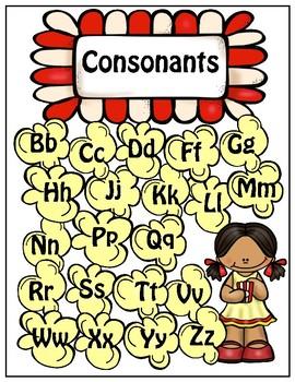 Consonant/vowel sorting game