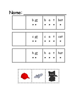 Consonant-vowel-t, read, cut, & glue bundle