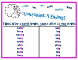 Consonant-y Phonics Poster