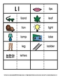 Consonant/Digraph Word Sorts with Pictures (Letter L)