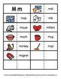 Consonant/Digraph Word Sorts with Pictures (Letter M)