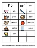 Consonant/Digraph Word Sorts with Pictures (Letter P)