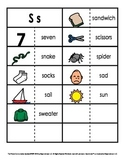 Consonant/Digraph Word Sorts with Pictures (Letter S)