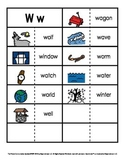 Consonant/Digraph Word Sorts with Pictures (Letter W)