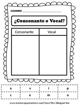 Consonante o vocal ? (Corta y Pega)