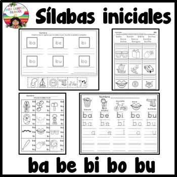 Letra B Silabas ba be bi bo bu