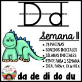 Letra D Silabas da, de, di, do, du
