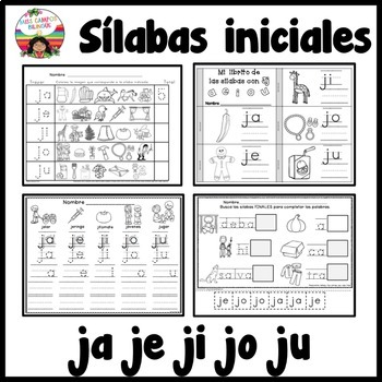 Letra J Silabas ja, je, ji, jo, ju