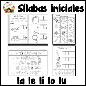 Letra L  la, le, li, lo, lu BUNDLE